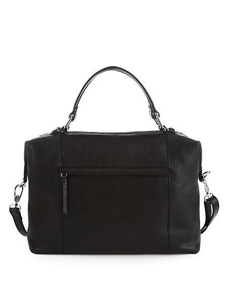 Leather Greta Bowler Bag
