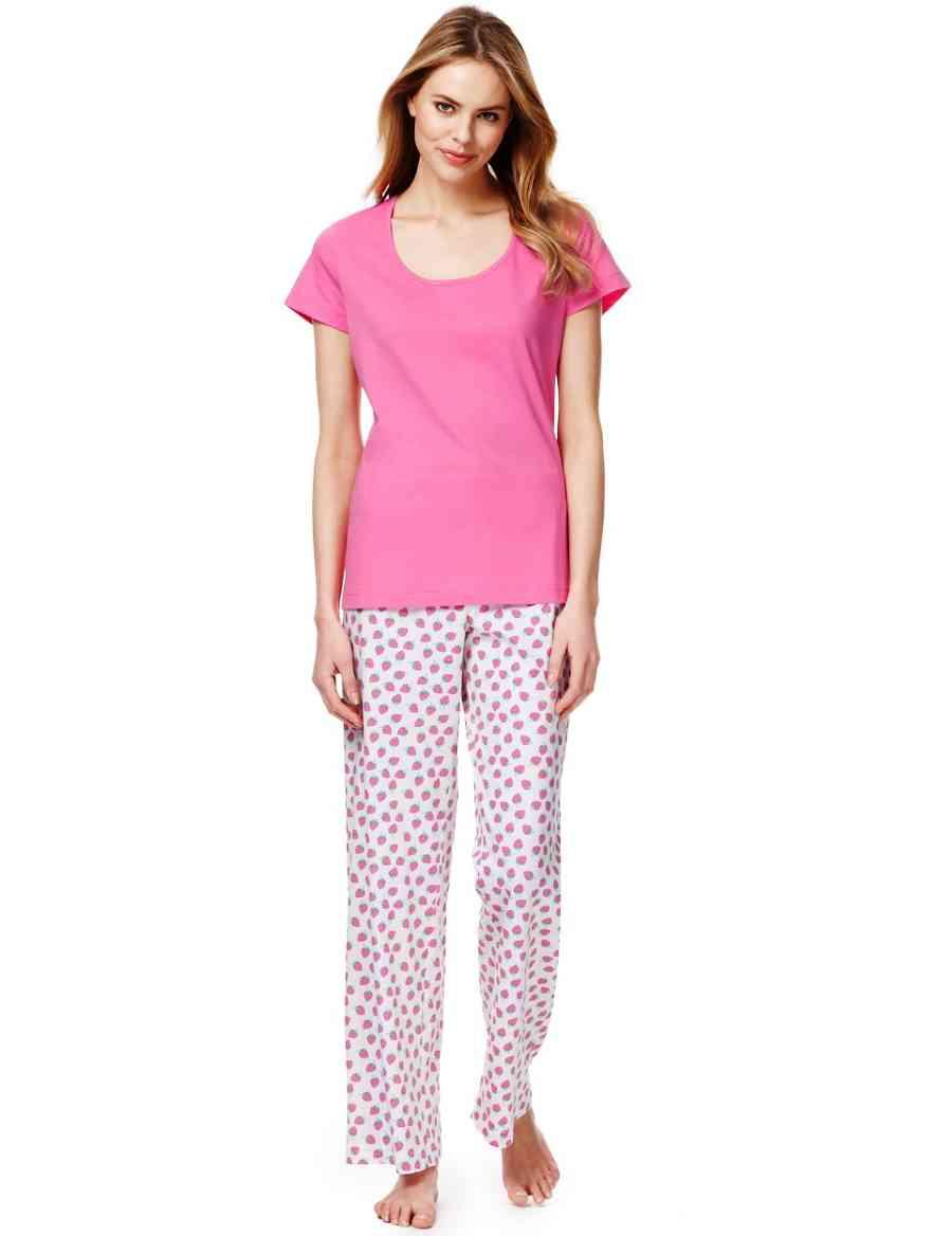 Pure Cotton Short Sleeve Strawberry Print Pyjamas  7998d76a4