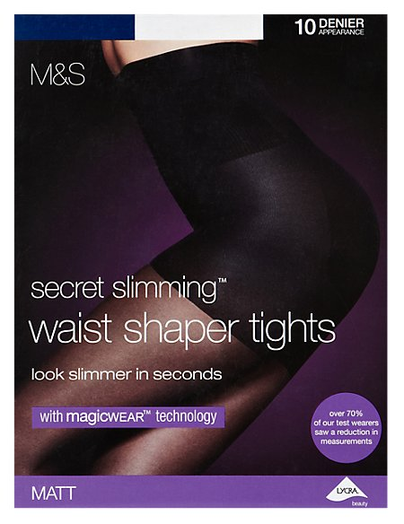 10 Denier Magicwear™ High Waist Cincher Matt Bodyshaper Tights