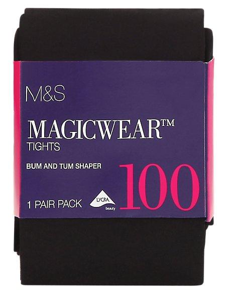 100 Denier Magicwear™ Bum & Tum Opaque Body Shaper Tights