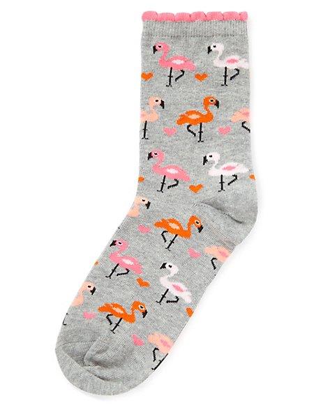 Flamingo Ankle High Socks
