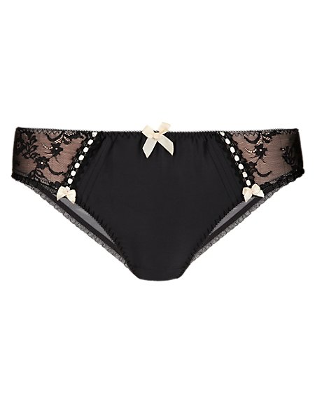 Floral Lace Low Rise Brazilian Knickers
