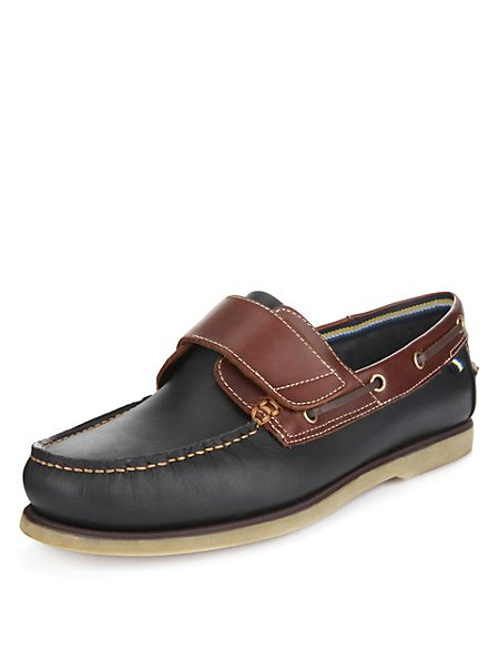 Leather Riptape Boat Shoes