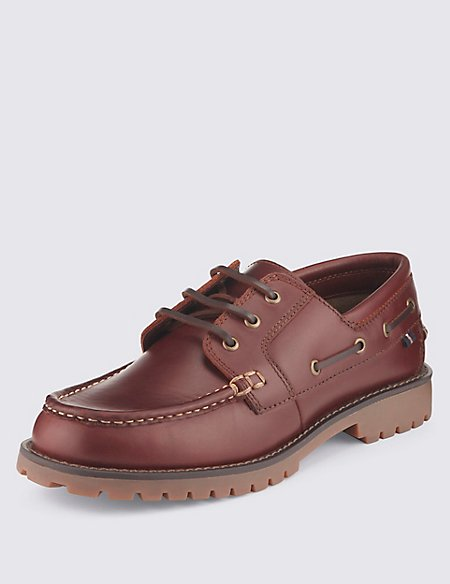 Leather Boat Shoes with Freshfeet™