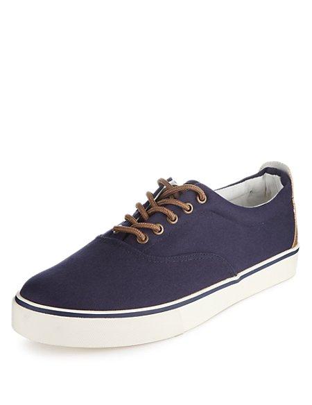 Lace-up Canvas Pump Shoes