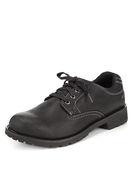 Leather Lace Up Gibson Shoes with Stormwear™