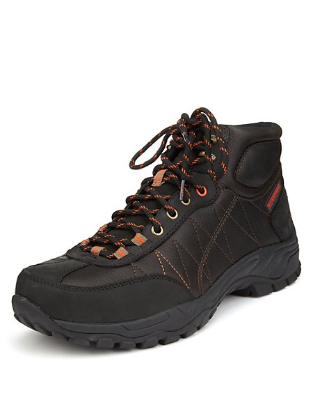 Leather Hiker Lace Up Boots with Stormwear™