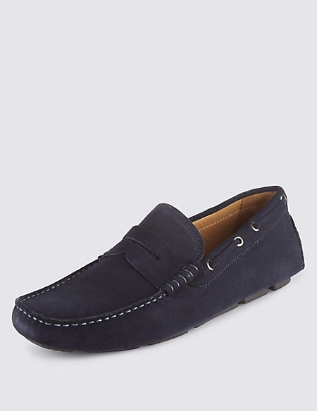Suede Driving Slip-on Shoes