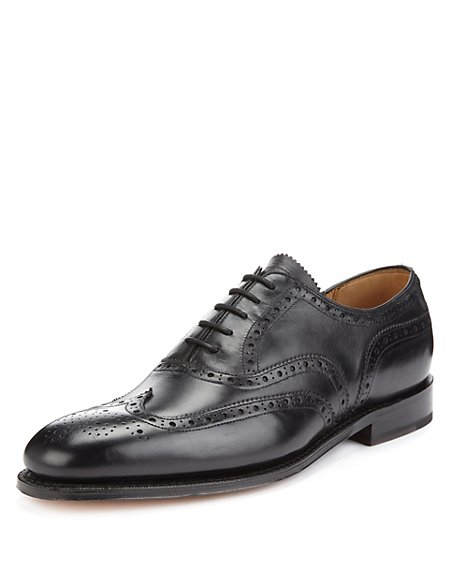 Leather Lace Up Brogue Shoes