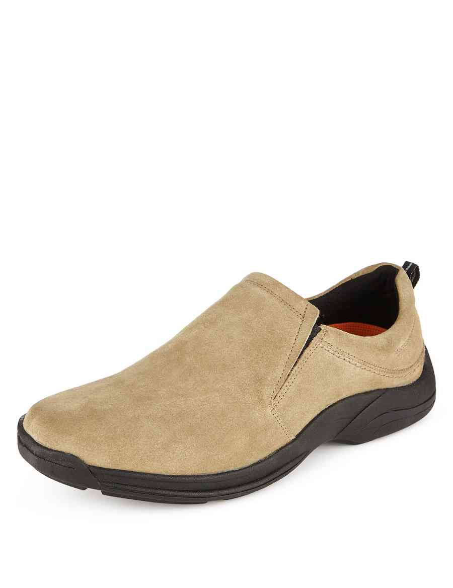 78a4617fa29 Airflex™ Suede Extra Wide Fit Slip-On Shoes