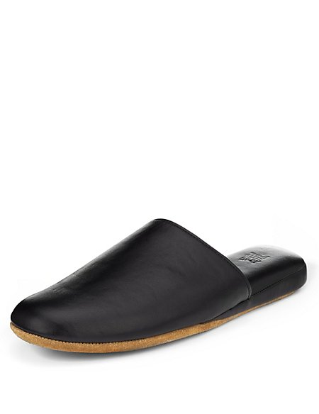 Freshfeet™ Leather Mule Slippers with Thinsulate™