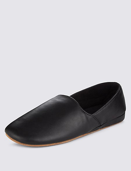 Leather Full Cut Slippers