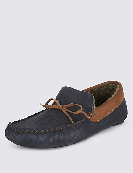 Suede Slippers with Thinsulate™