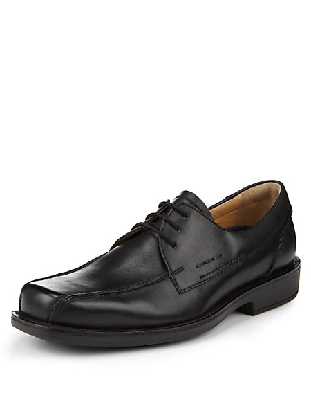 Leather Padded Lace-up Shoes with Airflex™