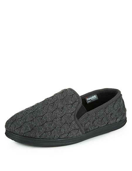 Knitted Slip-On Slippers with Thinsulate™