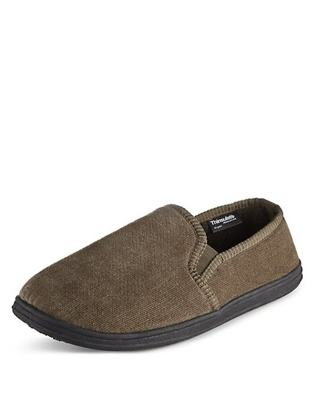 Velour Slip-on Slippers with Thinsulate™