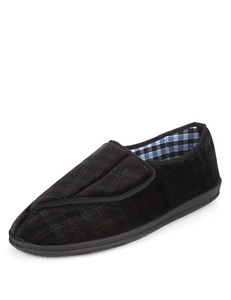 Freshfeet™ Riptape Slippers with Silver Technology