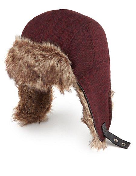 d5a15f00fd0 Product images. Skip Carousel. Pure Wool Herringbone Trapper Hat ...