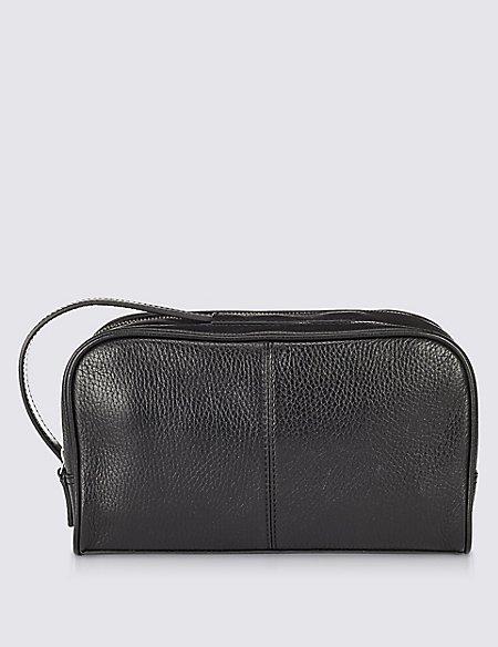 Leather Luxury Washbag
