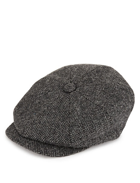 3ef454678 Pure Wool Baker Boy Thinsulate™ Flat Cap with Stormwear™