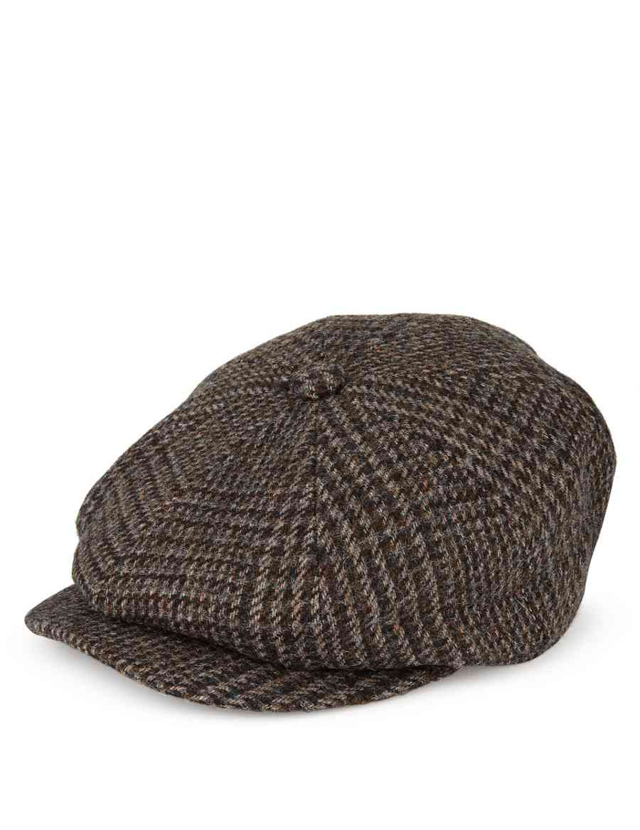 Pure Wool Baker Boy Checked Thinsulate™ Flat Cap with Stormwear ... 1808dc75ad12