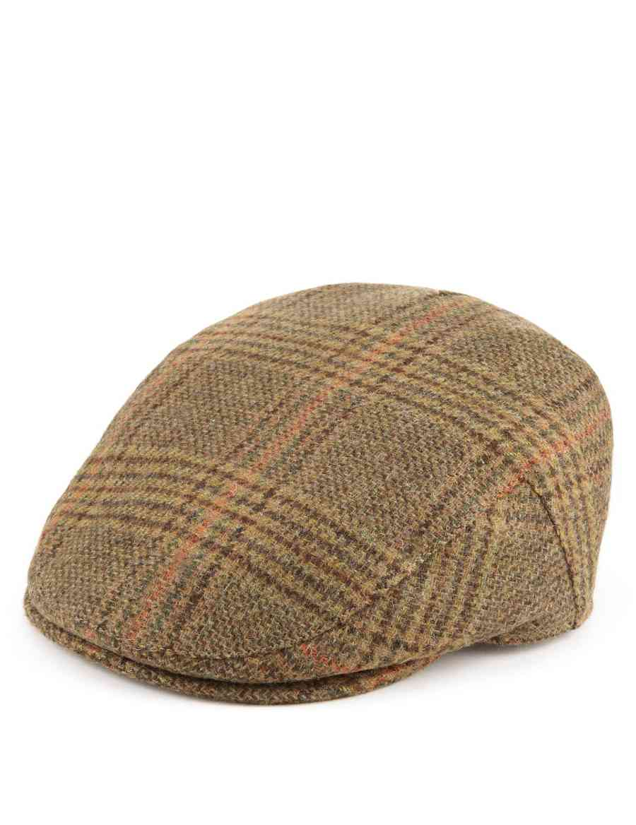 Pure Wool Checked Flat Cap with Thinsulate™   Stormwear™  df78c9f5e5e