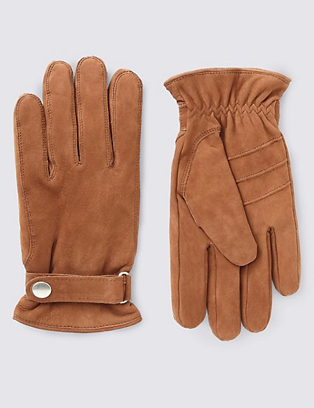 Leather Thinsulate™ Gloves with Adjustable Cuffs