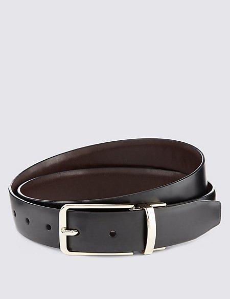 Coated Leather Reversible Belt