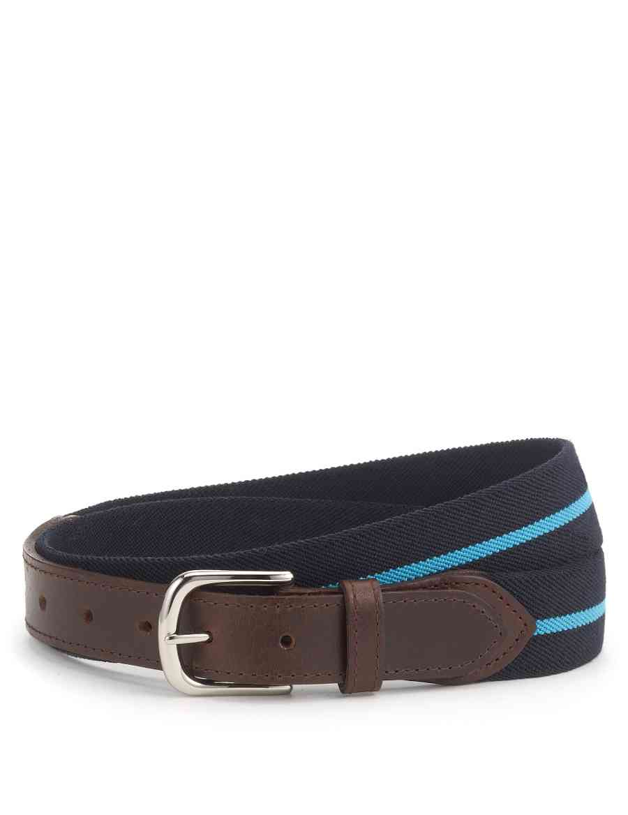 4a0c82ea4d Rectangular Buckle Striped Stretch Belt