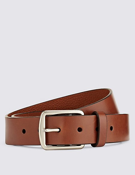 Leather Saddle Edge Belt