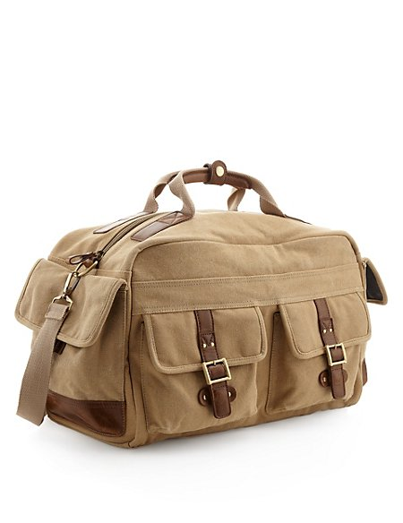 Pure Cotton Double Handle Canvas Holdall