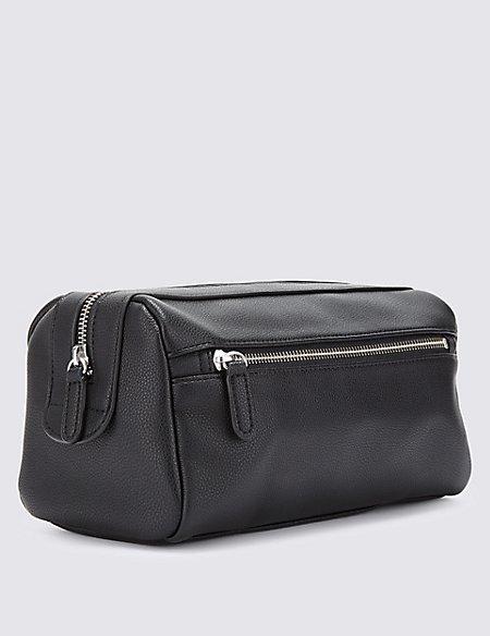 Faux Leather Washbag