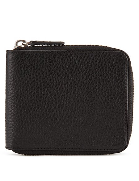 Leather Zipped Wallet with Datashield