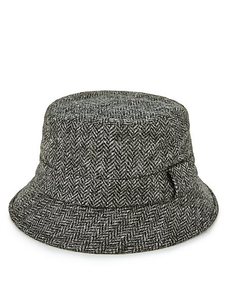 Product images. Skip Carousel. Pure Wool Herringbone Bucket Hat ... 48a617dfd35