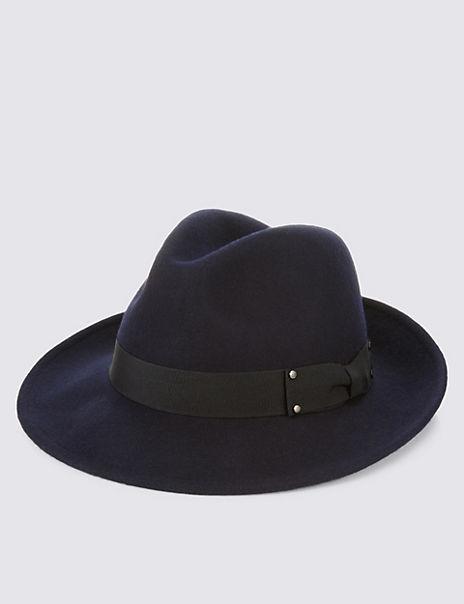 Pure Wool Fedora Hat with Stormwear™