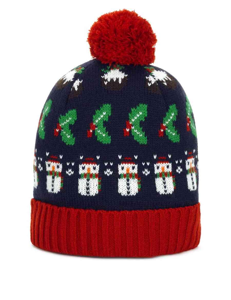 Christmas Theme Fair Isle Beanie Hat  e48fd8a78b1c