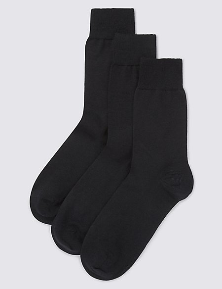3 Pack Merino Wool Blend Socks