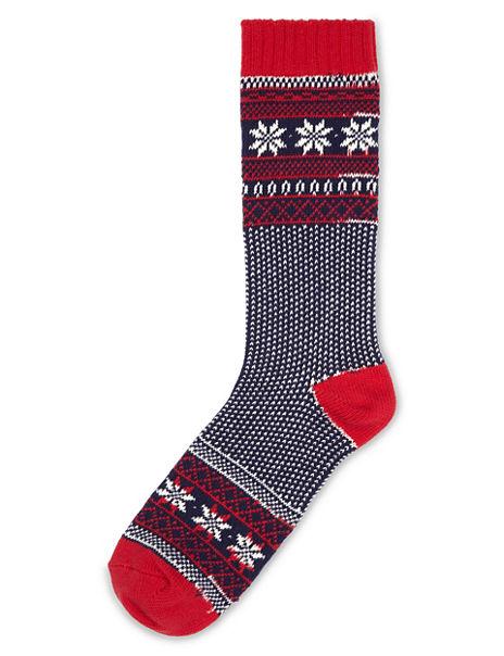Fair Isle Socks with Wool