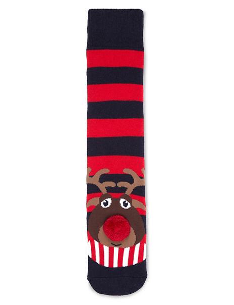 Cotton Rich Reindeer Bobble Socks