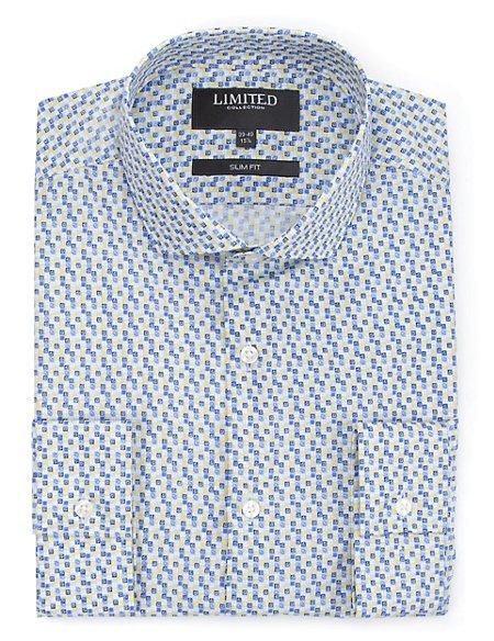 Slim Fit Geometric Print Shirt
