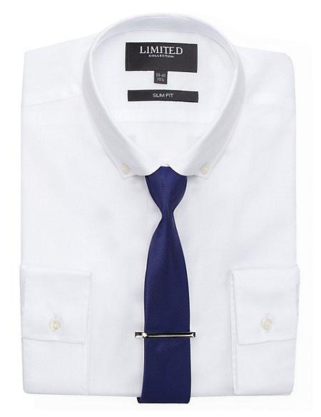 Slim Fit Shirt with Tie & Tie Clip