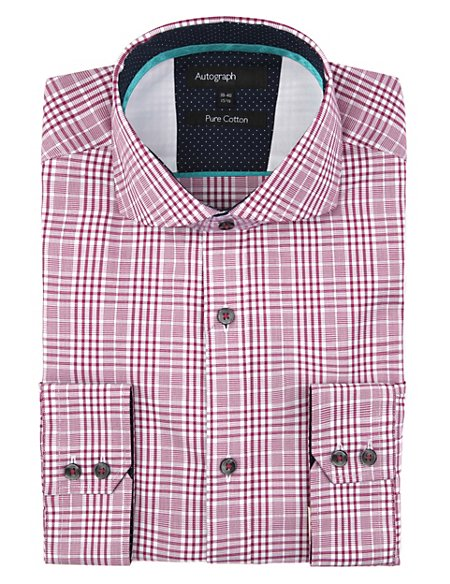 Pure Cotton Prince of Wales Checked Shirt