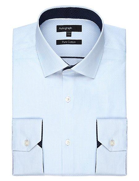 Supima® Pure Cotton Dobby Striped Shirt