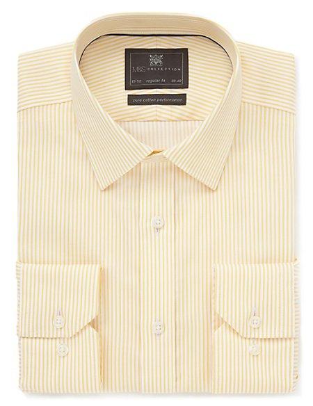 Performance Pure Cotton Non-Iron Bengal Striped Shirt