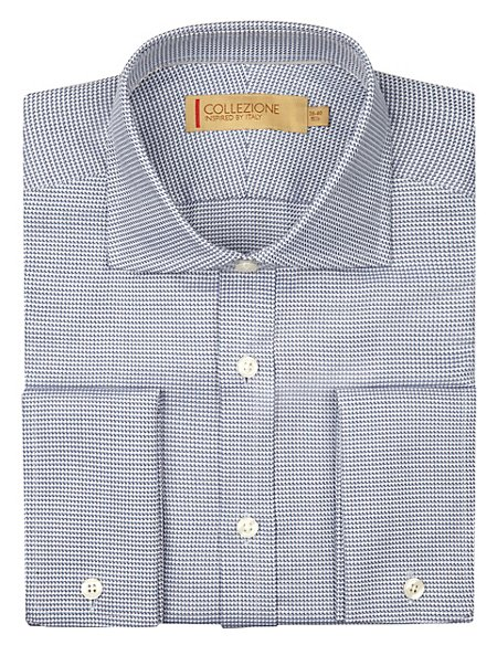 Pure Cotton Textured Shirt