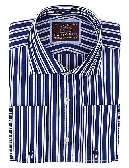 Pure Cotton Wide Bold Striped Shirt