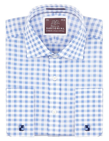 Pure Cotton Large Gingham Checked Shirt