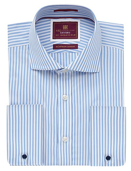 Pure Egyptian Cotton Classic Bengal Striped Shirt