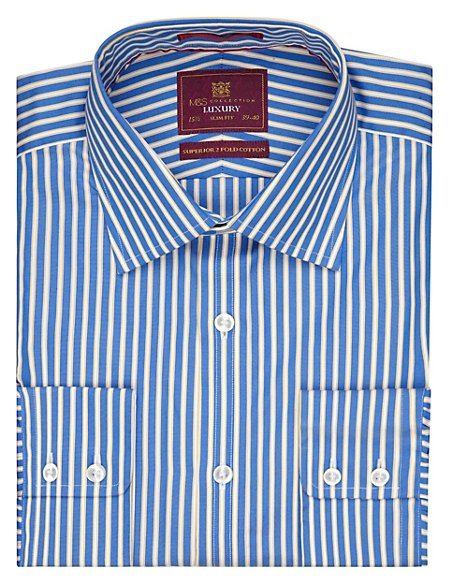 Pure Cotton Slim Fit Bengal Striped Shirt
