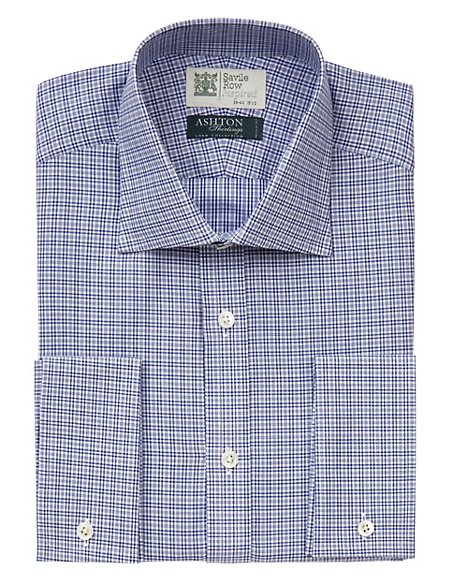 Pure Cotton Mini Prince of Wales Checked Shirt